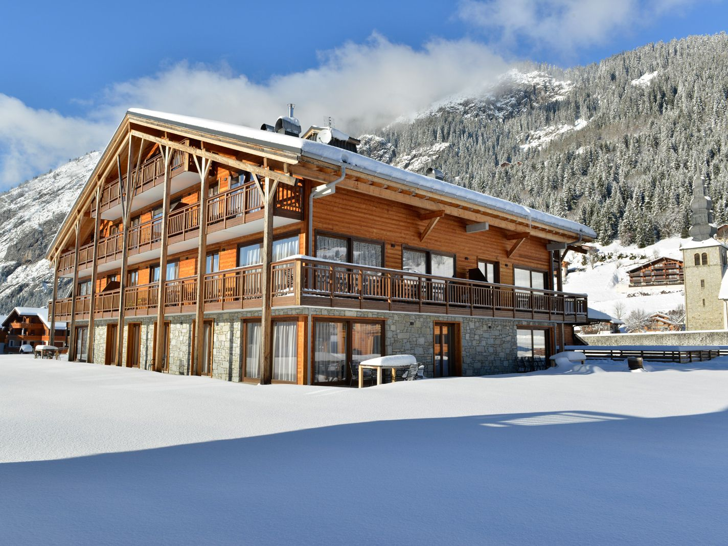 Appartement Mont Blanc Alpine Estate met open haard en privé-sauna - 6-8 personen