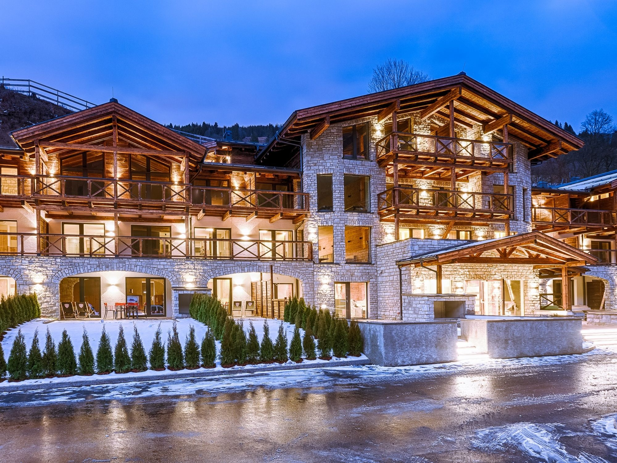 Appartement Avenida Mountain Lodges Saalbach Penthouse 3 slaapkamers, incl. ontbijt - 6-8 personen