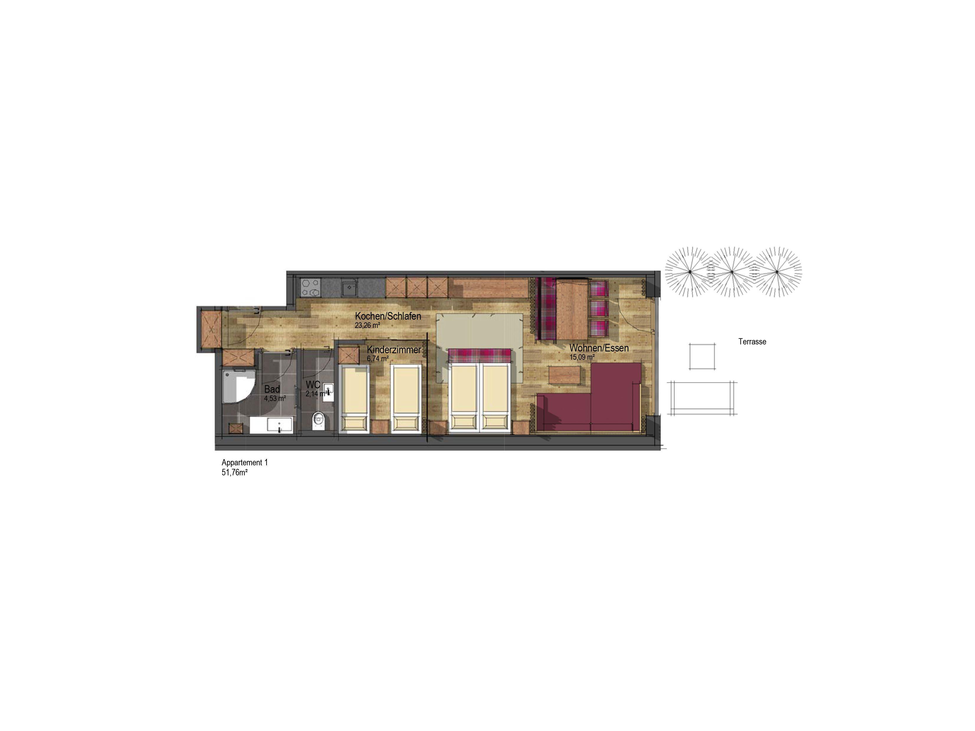 Chalet-appartement The Peak Dolomiten - 2-4 personen