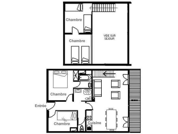 Appartement r sidence le hors piste met mezzanine 6 8 pers saint martin de belleville - Mezzanine accommodatie ...