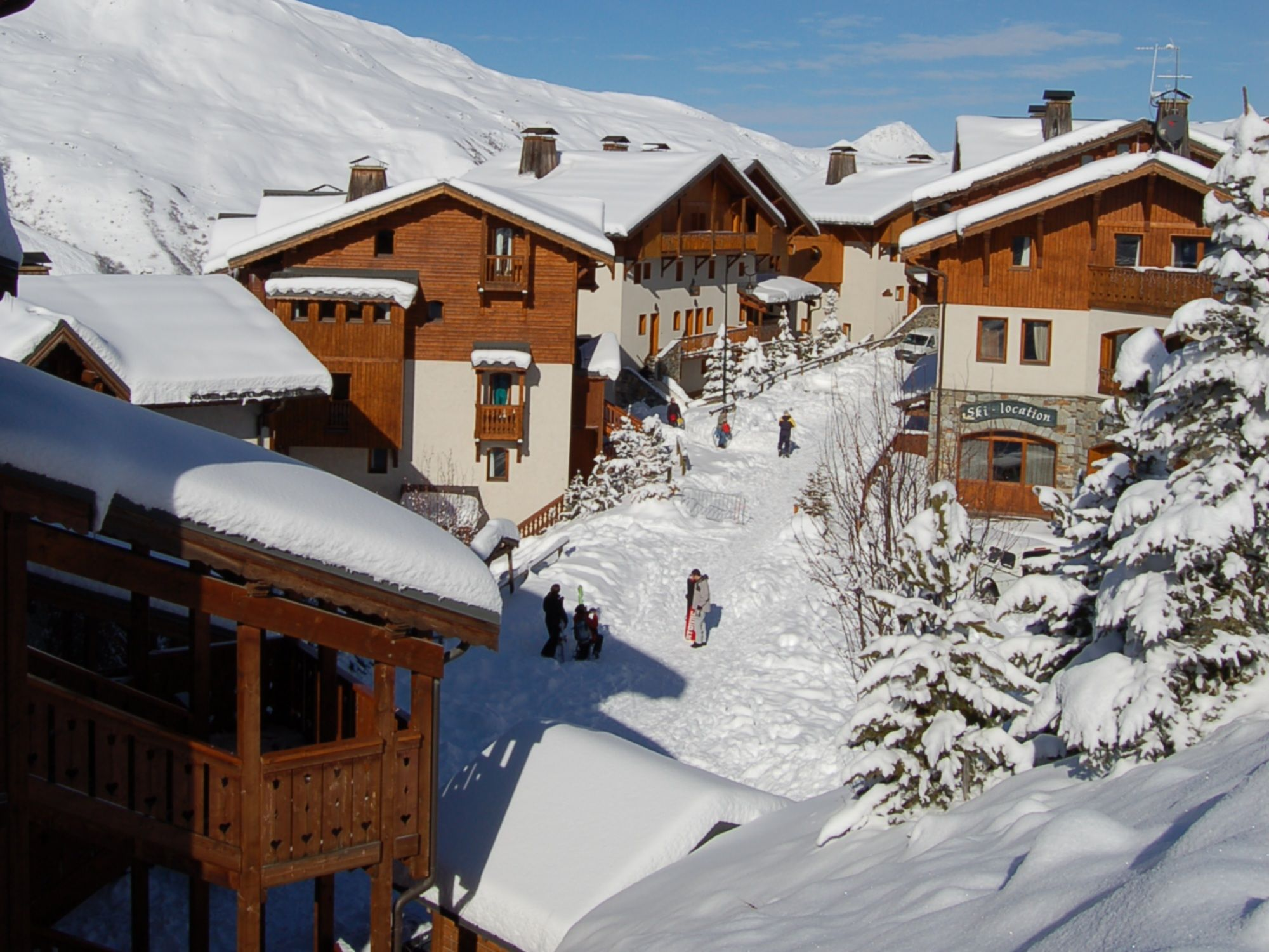 Chalet-appartement Montagnettes Hameau de la Sapinière met cabine - 6 personen